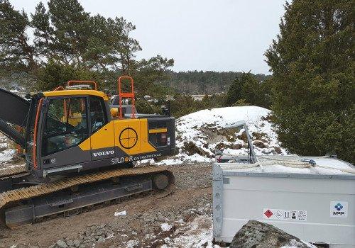 Inbrottsskyddad transporttank 3 m³, TT300 – Studor Entreprenad